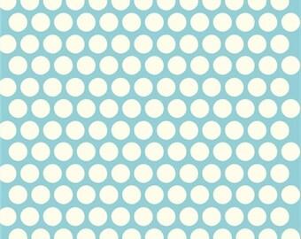 Dottie Cream Pool Mod Basics 3 Collection Birch Organic Fabrics, Sustainable Low Impact Dye Cotton Fabric, Polka Dots