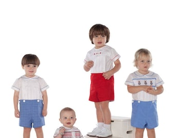 Childrens Corner / Basics for Boys / Young boys / David / John / Michael / Wright / Button on Shorts / Bloomers / Shirts / Smocked Shirt