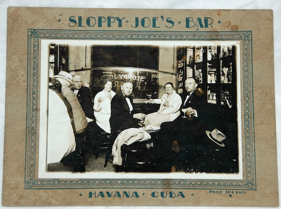 Rare Vintage SLOPPY JOE'S BAR Reopened After 50 Year Hiatus - A Must-See For Tourists! - Great Souvenir Item - Free Shipping !
