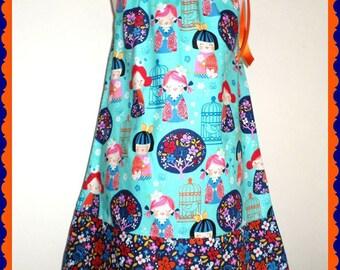 Dress CHINA DOLL kokeshie from 2 to 10 years