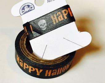 "Happy Halloween with Skull Washi Tape Sample 24"""