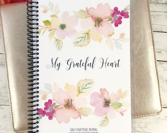 Mothers Day Gift, Gratitude Journal, Thankful Journal,  Friend Gift, Christian Gift, Gratefulness, Writing Journal, Delicate Floral