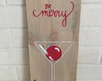Be Merry Martini Glass