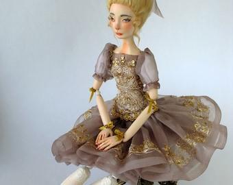 "Art doll OOAK, handmade doll  ""Lilly"""