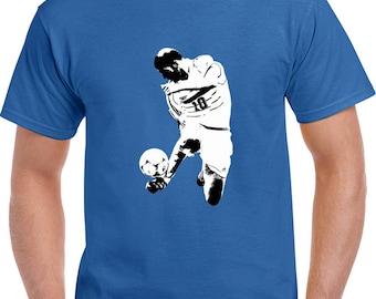Zinadine Zidane Silhouette Soccer Football France Player T Shirt