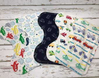Airplane Burp cloth organic Boy Burp cloth planes baby shower planes burp cloth automobile burp cloth Baby boy shower gift blue burp cloths