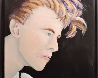 David Bowie Oil Painting