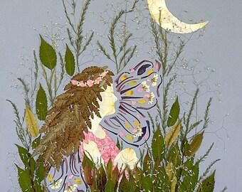 Eclipse - Fairy Fantasy Children's Art - 16 x 20 Fine Art Giclee Print - Magic Flower Blossoms