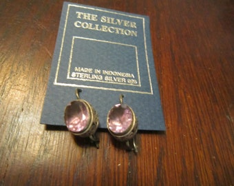 Amethyst Glass and Sterling with Shepherd's Hooks