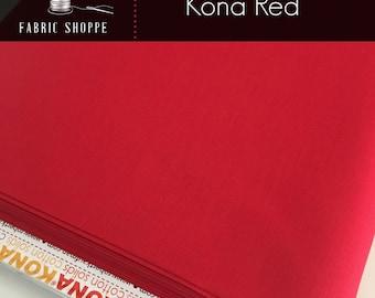 Kona cotton solid quilt fabric, Kona RED 1308, Kona fabric, Solid fabric Yardage, Kaufman, Christmas fabric, Choose the cut