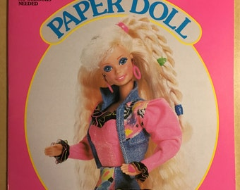 1992 Barbie vintage Paper Dolls uncut book rare old school ken toy mattel 90s 60s 70s classic throwback retro hipster cute kids children htf