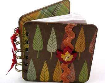 Leaf It to Your Imagination Mini Blank Book, doodle - sketch - collage - write, gold - green - orange