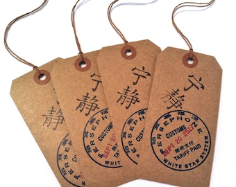 Persephone Customs Gift Tags Firefly Serenity Inspired Set of FOUR (4)