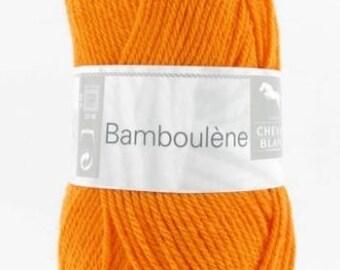 Yarn BAMBOULENE No. 271 horse white orange colors