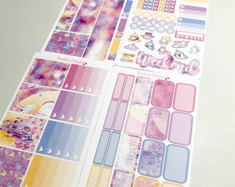Unicorn 4 Piece Mini Planner Sticker Kit sized for the Erin Condren Planner & Many other planners