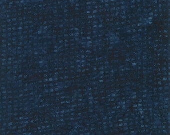 Tonga Grid Batik - Timeless Treasures - Tonga-B2582-Navy