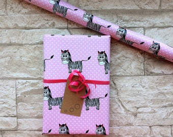 Gift Wrapping Paper Zebra