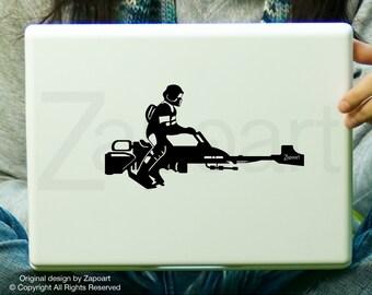 Star Wars Stormtrooper Speeder Bike Decal Laptop Car Decal iPad