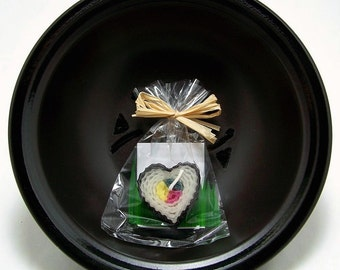 Love Heart Japan Sushi Candle Party Favor Wedding Favors Japanese Asian Faux Food Beeswax Heart Sushi Romance