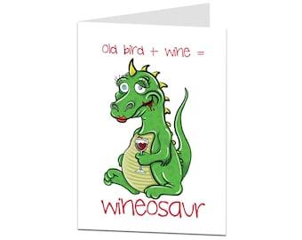 Funny Birthday Card. Birthday Card For Her Female. Birthday Card Mum. Wine Age Related Joke Birthday Card. Birthday Card Female Friend