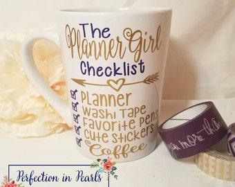 Planner Girl Coffee Mug // Planner Girl Checklist // Personalized Mug // Planner Addict Accessories