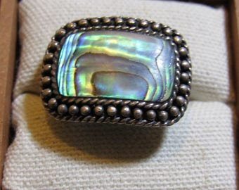 large ring  unusual stone made in malasia