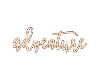 Adventure - Laser Cut Wood Word - 180129