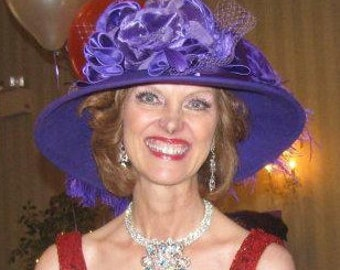 Edwardian Hat, Kentucky Derby Hat, Ascot Hat, Tea Hat, Titanic Hat, Somewhere in Time Hat, Downton Abbey Hat, Red Hat Society - La Rienne