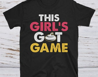Girl Curling tee - funny curling shirt - curling lovers tee - curling apparel - curling shirt gift - curling player tee-curling team