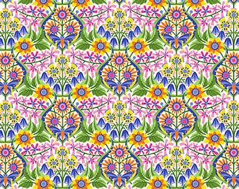 Jane Sassaman - Spring Fever - Queen of the May - Rainbow 100% quilting cotton