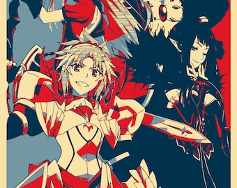 "Poster ""Propaganda"" Fate Apocrypha - Red Faction"