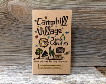 "Camphill Village Beeswax Tree Candles 4.5"" x 0.5"""