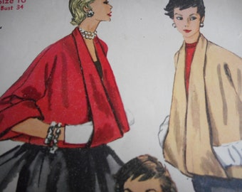 Vintage 1950's Simplicity 4944 Set of Jackets Sewing Pattern Size 16 Bust 34