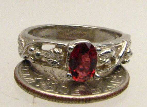 Handmade Sterling Silver Red Spinel Ring