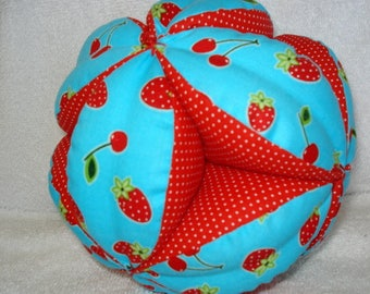 Cherry Berry Sweet Easy-Catch Baby/Toddler Clutch Ball - Baby Shower Gift