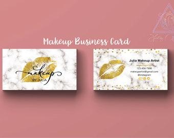 Girly business card etsy lips business card gold foil makeup make up artist card marble calling card feminine custom card golden confetti card girly girl boss colourmoves