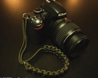 Paracord Camera Wrist Strap - Green