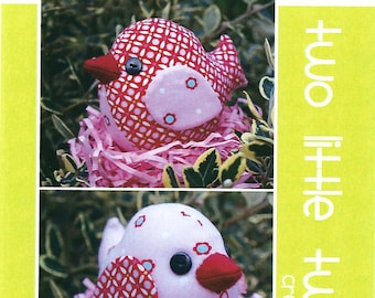Pattern ''Two Tweets'' Bird Soft Sculpture, Stuffed Toy, Softie, Cloth Toy Sewing Pattern by Melly & Me (MM707)