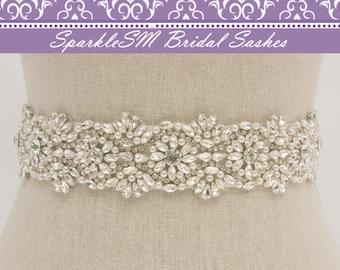 Crystal Bridal Sash, Bridal Belt, Bridal Sash, Rhinestone Sash, Swarovski Sash, Jeweled Bridal Sash, Wide Bridal Sash, Pearl Bridal Sash