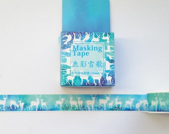 deer animal washi tape, #4, washi tape, washi, animal washi tape, deer washi tape, 15 mm x 7 m, MT,