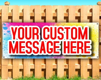CUSTOMIZE Your Own BANNER Heavy Duty Vinyl Banner with Grommets Business Advertising Sign
