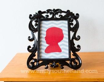 Custom Hand-Cut 5x7 Silhouette Portrait