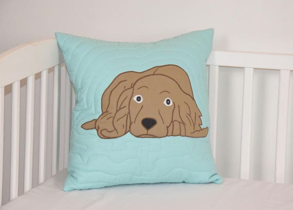 Cocker Spaniel Pillow, Decorative Dog Cushion, Cute Animal Gift