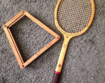 Vintage wood Davis TAD tennis racquet w/ wooden press
