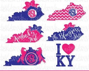 SALE! Kentucky State Monogram   Kentucky SVG dxf eps pdf jpg png cut files   Kentucky Girl SVG   Kentucky Home svg   Bluegrass State svg