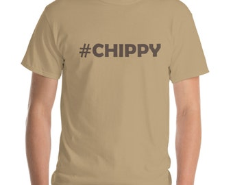Chippy T shirt - 3 Colours with Brown print