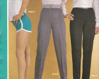 1980s Sewing Pattern - BevKnits 2800 Ladies Slacks & Shorts  Size 8 - 20 Factory folded and complete