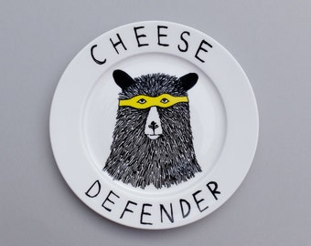 Cheese Defender side plate