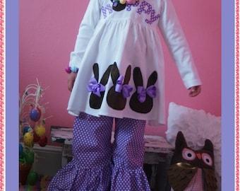 Easter Bunny Dress for Girls, Little Girls Easter Dress, Bunny Dress Purple Easter Dress. Sizes 12M 18M 2T 3T 4T 5T 6