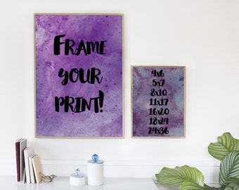 Frame your design! [[Add on item only]]